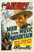 Western Movies Posters - Man From Music Mountain, Gene Autry Poster by Everett