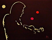 Music Drawings Originals - Man In Backlit by Pete Maier
