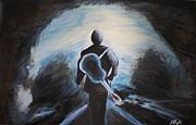 Man In Black Print by Steven Dopka