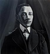 Man In Suit And Vest Out Of The Box Series Print by Joyce Owens