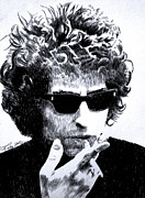 Bob Dylan Art - Man in the Long Black Coat by Robbi  Musser