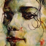 Michael Paintings - Man in the mirror by Paul Lovering