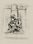 Philadelphia Photographs Prints - Man in Thought - Philadelphia City Hall  Print by Bill Cannon