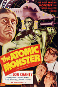 Horror Fantasy Movies Posters - Man Made Monster, Aka The Atomic Poster by Everett