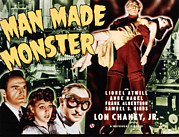 Monster Movies Prints - Man Made Monster, Frank Albertson, Anne Print by Everett