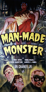 Monster Movies Posters - Man Made Monster, Lon Chaney, Jr., Top Poster by Everett