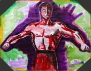 Bruce Lee Painting Originals - Man of Steel by Abin Raj