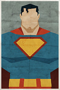 Superhero Digital Art Framed Prints - Man Of Steel Framed Print by Michael Myers