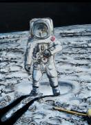 Man On The Moon Prints - Man on the Moon Print by Mitchell McClenney