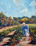 Margaret Plumb - Man Picking Peppers