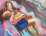 Mental Paintings - Man Relaxed with Nervous Tension by Suzanne  Marie Leclair