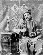 1900s Portraits Photos - Man Smoking Water Pipe, Photograph, 1901 by Everett