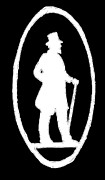 Black Top Digital Art - Man With Cane Silhouette White on Black by Jeannie Atwater Jordan Allen