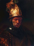 Reproduction Metal Prints - Man With The Golden Helmet Metal Print by Pg Reproductions