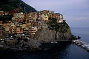 Port Town Photo Framed Prints - Manarola  Framed Print by Andrew Soundarajan