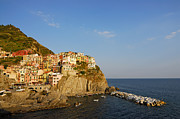 Hill Top Village Prints - Manarola Cinque Terre Italy  Print by Petr Svarc