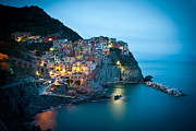 Cinque Terre Photos - Manarola Iridescence by Mike Reid