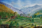 Landscape-like Art Paintings - Manasalu by Arjoon KC