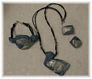 Handcrafted Jewelry Originals - Manatee Jewelry - 3 piece set  by Evie Harper
