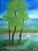 Waterlife Prints - Manatee Refuge Part 1 Print by Sandy McIntire