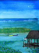 Waterlife Prints - Manatee Refuge Part 2 Print by Sandy McIntire