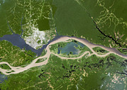 Negro Photos - Manaus, Satellite Image by Planetobserver