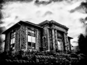 Library Digital Art Metal Prints - Manayunk Branch of the Free Library of Philadelphia Metal Print by Bill Cannon