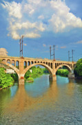 Philadelphia Digital Art Prints - Manayunk Bridge Print by Bill Cannon