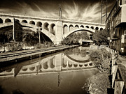 Canal Photo Originals - Manayunk Bridge by Jack Paolini