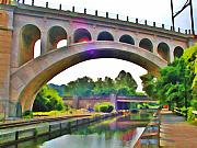 Philadelphia Digital Art Metal Prints - Manayunk Canal Metal Print by Bill Cannon