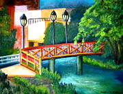 Philadelphia Scene Paintings - Manayunk Canal by Marita McVeigh