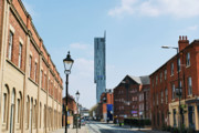 Stadium Design Posters - Manchester - Beetham Tower Poster by Hristo Hristov