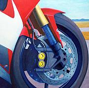 Bicycles Paintings - Mandala - Yamaha R6 by Brian  Commerford