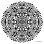Jim Gogarty - Mandala 25 drawing