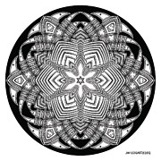 Jim Gogarty - Mandala 40 drawing