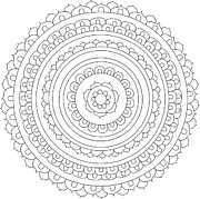 Ornate Drawings - Mandala 9 by The Mandala Company The Mandala Company