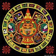 Mandala Azteca Print by Roberto Valdes Sanchez