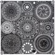 Circle Metal Prints - Mandala Bouquet Metal Print by Matthew Ridgway