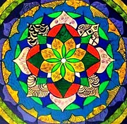 Mandal Paintings - Mandala circle of life by Sandra Lira