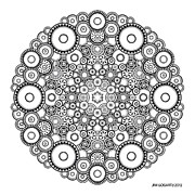 Symmetry Drawings - Mandala drawing 37 by Jim Gogarty