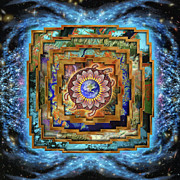 Gaia Framed Prints - Mandala Gaia Framed Print by Mark Myers