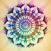 Sacred Digital Art Originals - Mandala M059 by X Mandalux