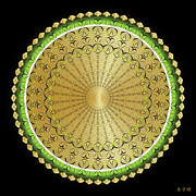 Metaphysics Prints - Mandala No. 100 Print by Alan Bennington