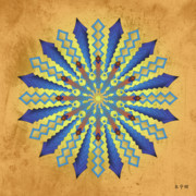 Metaphysics Prints - Mandala No. 11 Print by Alan Bennington