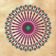 Metaphysics Posters - Mandala No. 13 Poster by Alan Bennington