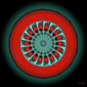 Metaphysics Digital Art Framed Prints - Mandala No. 20 Framed Print by Alan Bennington