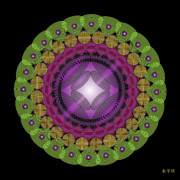 Metaphysics Prints - Mandala No. 21 Print by Alan Bennington