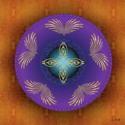 Tantric Framed Prints - Mandala No. 25 Framed Print by Alan Bennington