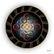Tantric Framed Prints - Mandala No. 26 Framed Print by Alan Bennington