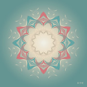 Metaphysics Prints - Mandala No. 28 Print by Alan Bennington